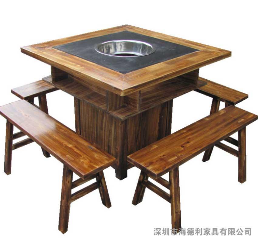 海德利厂家直销武汉火锅桌椅批发专业定做西安火锅桌椅批发代理