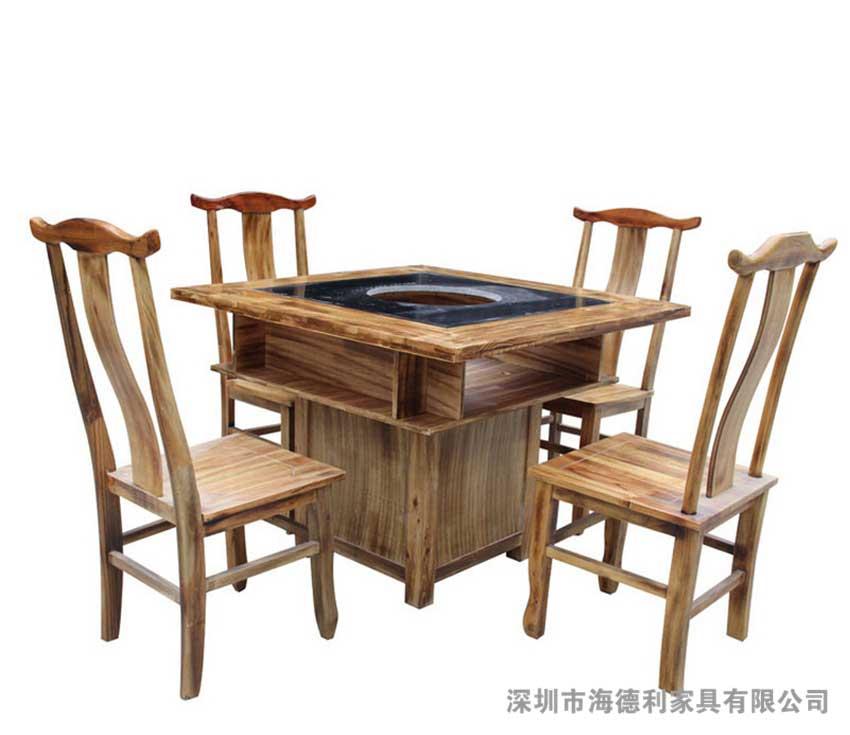 火锅专用餐桌批发 海德利厂家直销火锅桌子 免费上门尺量 火锅餐桌