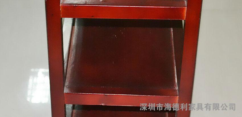 中式红色菜架