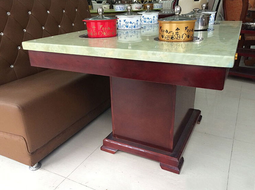 6人位方形火锅桌椅
