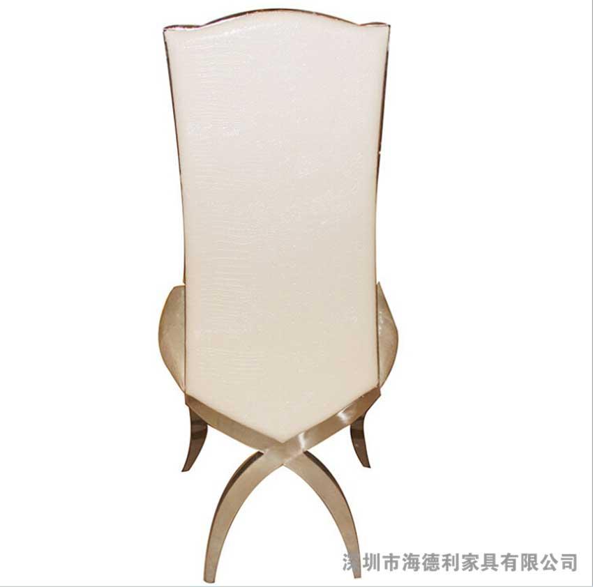 欧式不锈钢餐椅