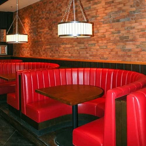 弧形火锅沙发批发 厂家直销 弧形沙发尺寸定做 弧形沙发价格