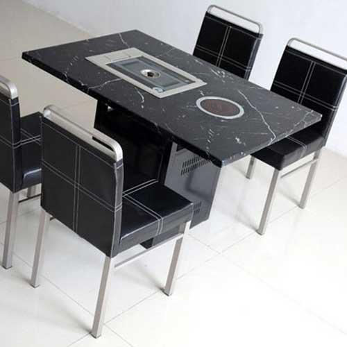 大理石一体桌厂家直销 大理石火锅一体桌尺寸定做 大理石火锅桌价格