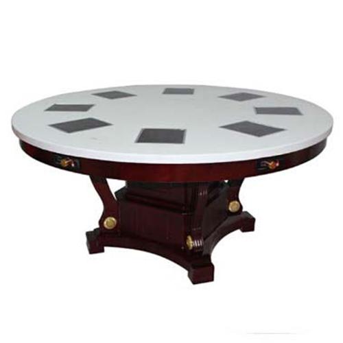 8人位大理石火锅桌子 一人一锅火锅桌尺寸定做 量大从优