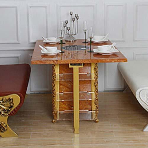 电磁炉火锅桌厂家直销 电磁炉火锅桌尺寸定做 量大从优