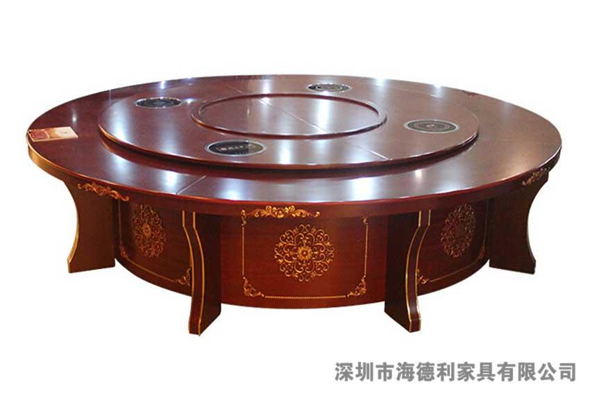 创意大方红木火锅圆桌