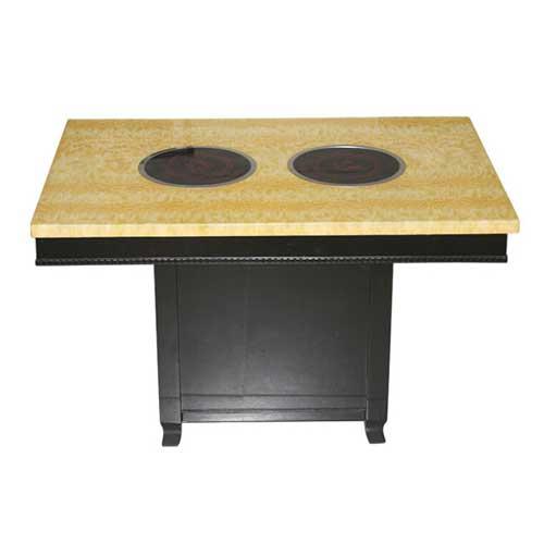 两炉一桌火锅桌,松木火锅桌厂家直销,品牌火锅桌定做