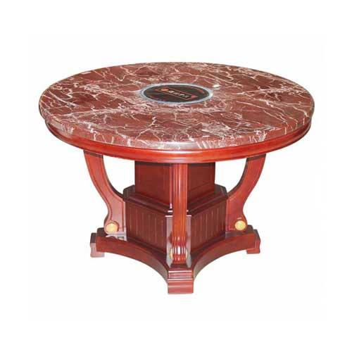 圆形大理石火锅桌尺寸,多人位电磁炉火锅桌价钱,成套火锅桌椅产品图片