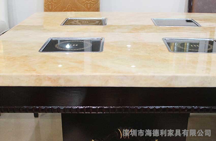 高品质大理石火锅桌 桦木柜形火锅桌 一人一锅火锅桌 热卖中