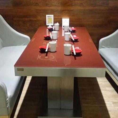 玻璃火锅桌图片款式 厂家直销 玻璃火锅桌尺寸定做 量大从优 深圳玻璃火锅