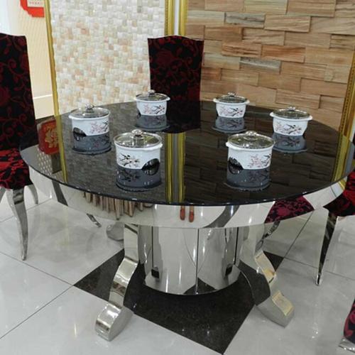 火锅桌椅组合 深圳火锅桌厂家直销 玻璃火锅桌尺寸定做 量大从优