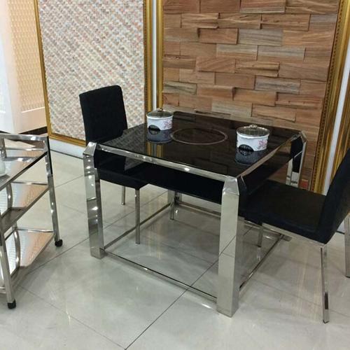 深圳火锅桌椅组合 玻璃火锅桌尺寸定做 深圳厂家直销 玻璃火锅桌价格