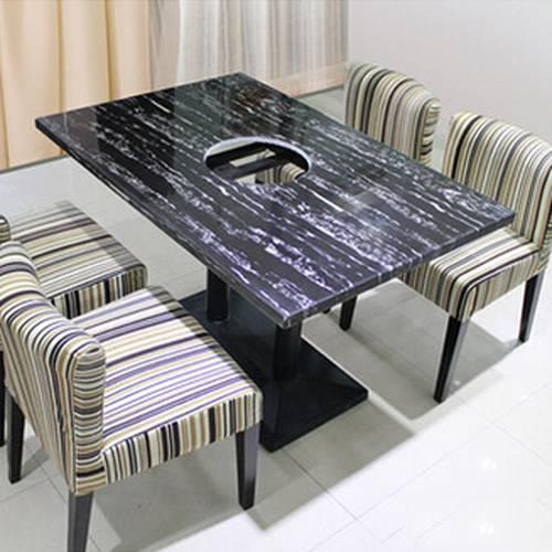 经典款式大理石火锅桌椅,燃气火锅桌厂家定做,火锅桌椅成套出售