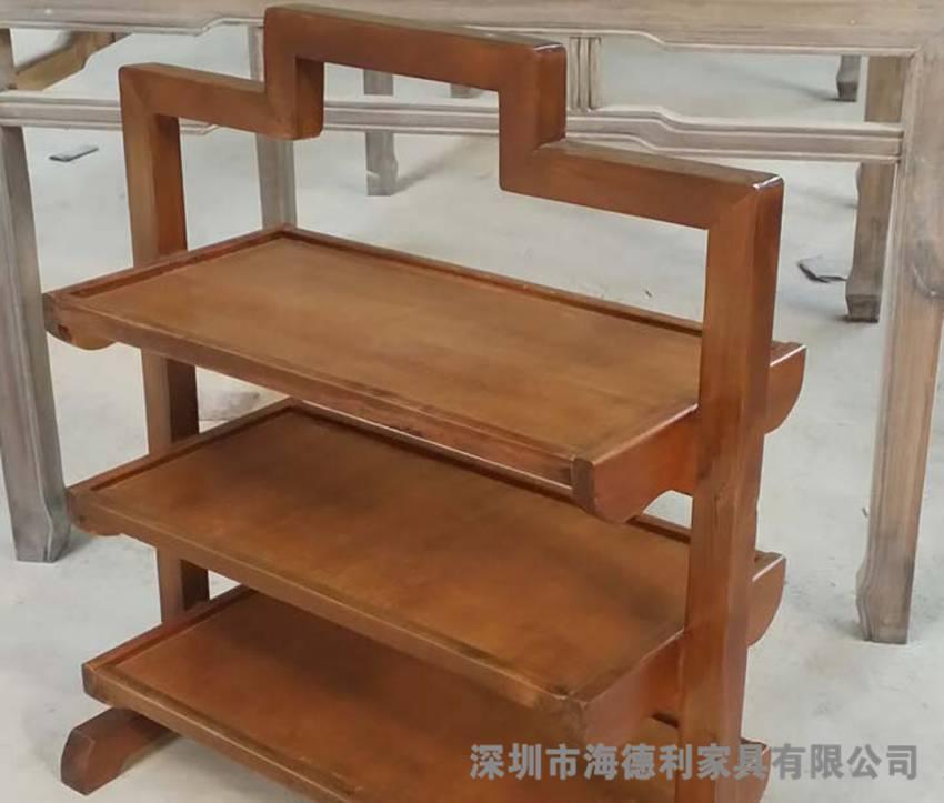 简约小清新实木菜架