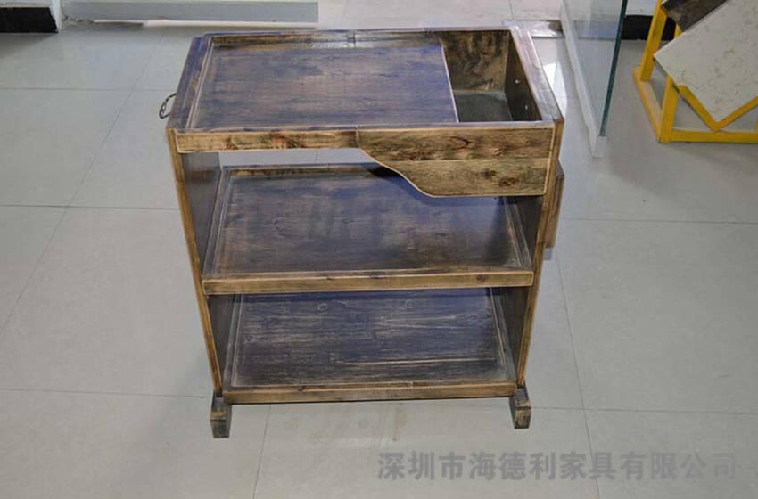纹理实木菜架