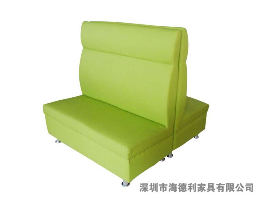 田园活力的布艺双人沙发卡座