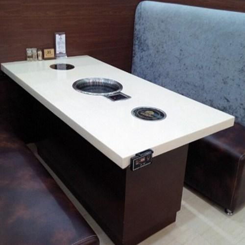 大理石火锅一体桌尺寸定做 量大从优 大理石火锅一体桌厂家直销