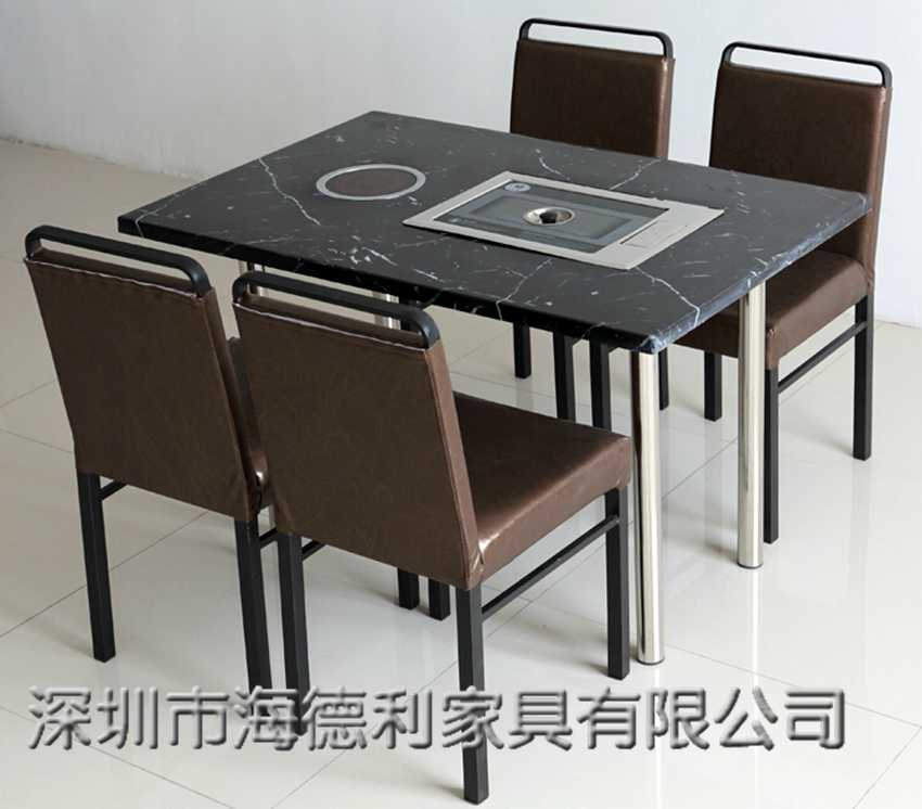 韩式大理石火锅烧烤一体桌