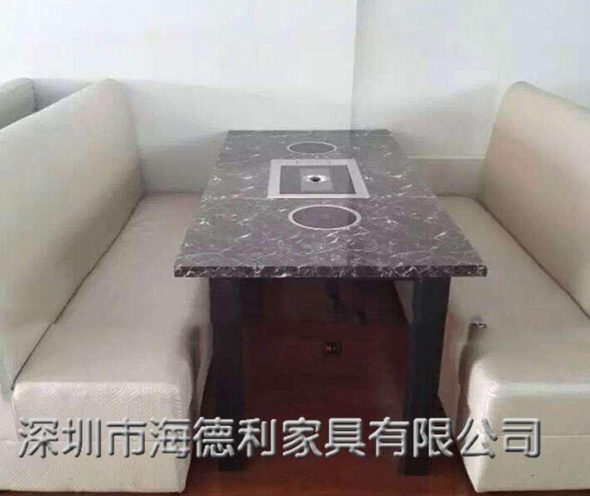 大理石火锅烧烤一体桌