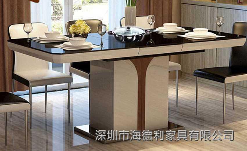 简约田园风的韩式玻璃火锅桌