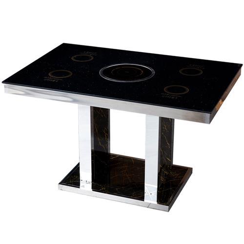 钢化玻璃隐形触控式一人一锅小火锅桌自助火锅桌