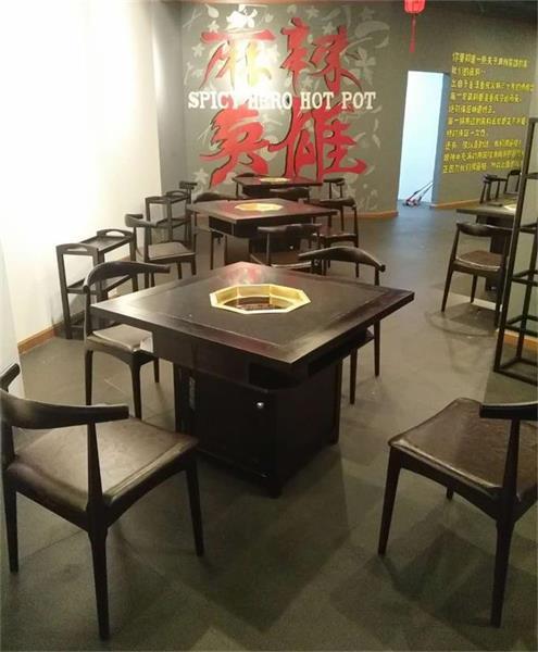 麻辣英雄火锅桌椅展示