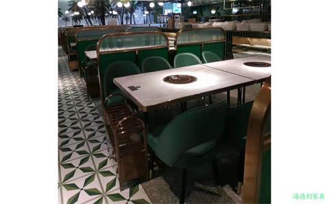 大理石隐形电磁炉火锅桌子