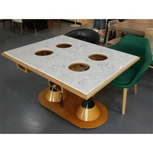 一人一锅自助火锅大理石电磁炉火锅桌