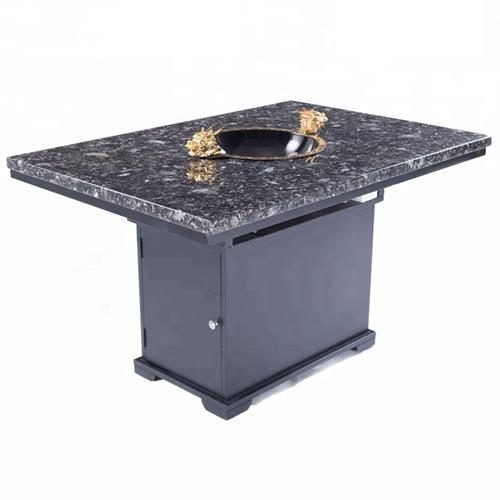 4人位大理石面电磁炉火锅桌