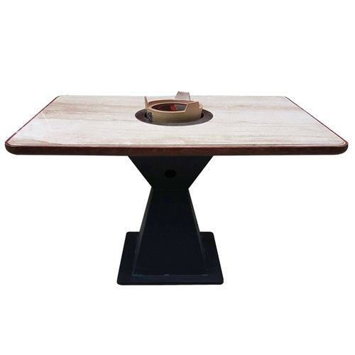 火锅店餐桌火锅桌一体_电磁炉火锅桌生产批发