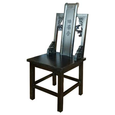 火锅店专用靠背椅雕花实木椅