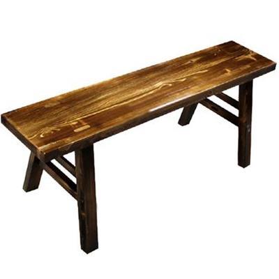 仿古松木长条凳子老火锅板凳
