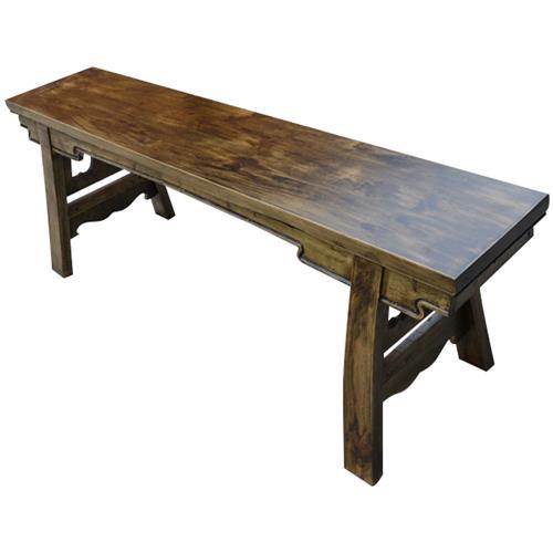 小龙坎实木仿古长条凳 火锅凳 雕花长条凳