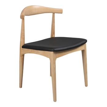 水曲柳实木原木色牛角椅 火锅椅厂家批发