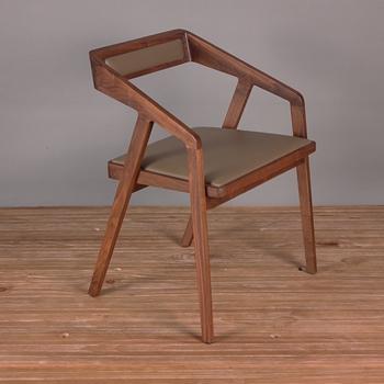 北欧原木色进口实木火锅椅-实木火锅椅厂家定制直销