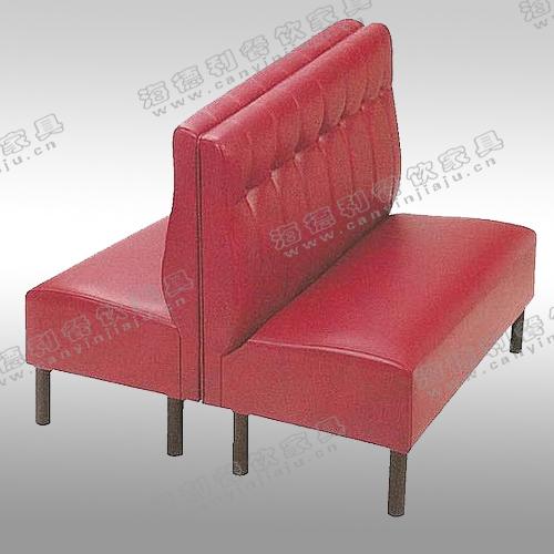 火锅店沙发 欧式皮制双人沙发 时尚简约拉扣卡座沙发