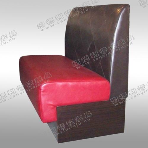 餐厅热销家具 火锅店沙发 双人沙发 韩式布艺沙发 皮制卡座沙发
