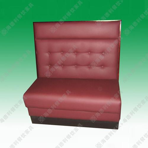 咖啡厅休闲沙发 双人卡座沙发 火锅店时尚简约沙发