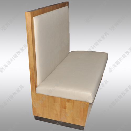 咖啡厅餐厅木骨架卡座沙发 海绵填充双人沙发卡座 火锅店时尚沙发