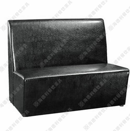 火锅店无扶手卡座沙发 双人位西餐厅沙发 简约卡座沙发