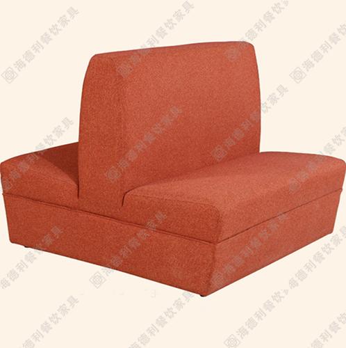 简约现代时尚布艺实木单人沙发 酒店咖啡厅餐厅卡座组合 火锅店卡座沙发