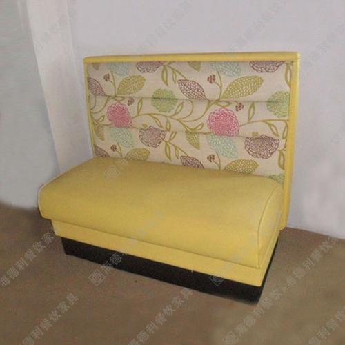 高档餐椅咖啡厅桌椅餐厅卡座沙发双人扶手沙发绒布沙发