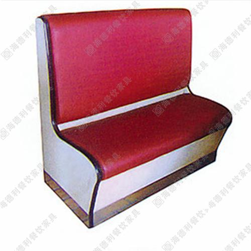 咖啡厅沙发黑白皮卡座沙发 奶茶甜品店西餐厅沙发单双人靠背沙发