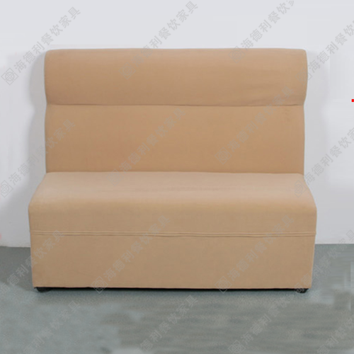 布艺小户型沙发 简易日式沙发组合 咖啡厅卡座 火锅店布艺双人沙发