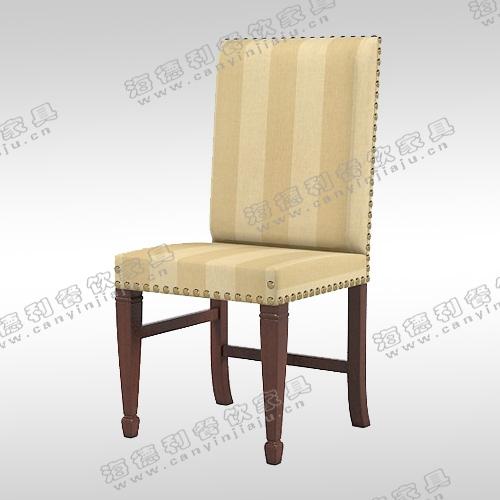 新中式乌金木色 餐厅实木椅子简约实用餐椅