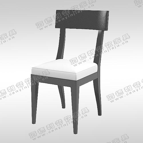 实木餐椅 现代简约软包布艺咖啡酒店奶茶饭厅西餐休闲 定制椅子凳