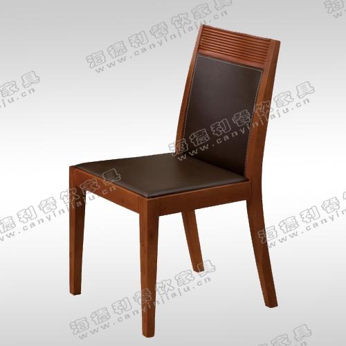 北欧宜家餐椅简约实木餐桌椅 咖啡椅 实木皮椅子酒店餐馆椅扶手椅