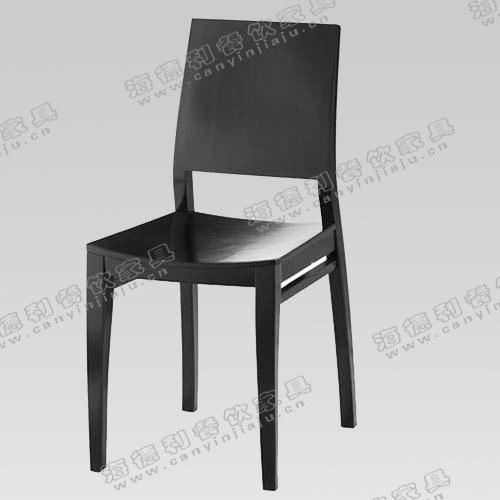 实木餐椅 时尚酒店椅子 可拆洗可拆装 超柔绒布凳面