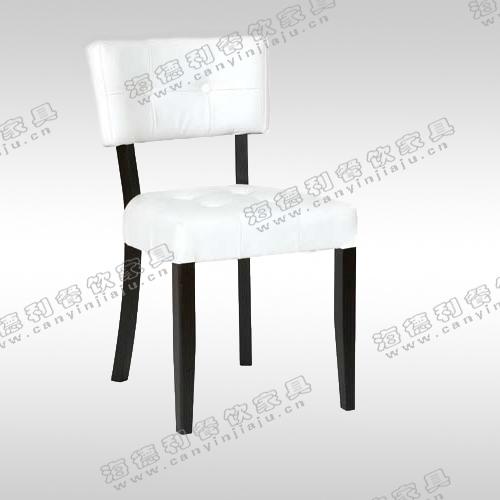 实木雕花象牙白色扶手餐椅 橡木古典布艺咖啡椅子 书房电脑椅