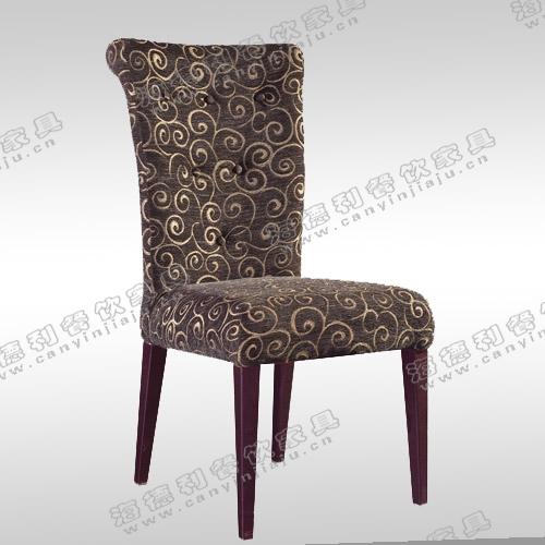 实木餐椅时尚简约高档出口黑色水曲柳麻布餐椅子酒店餐厅
